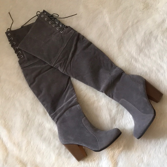 cc3b53ce NEW Chase + Chloe chunky heel zip up & lace boots Boutique